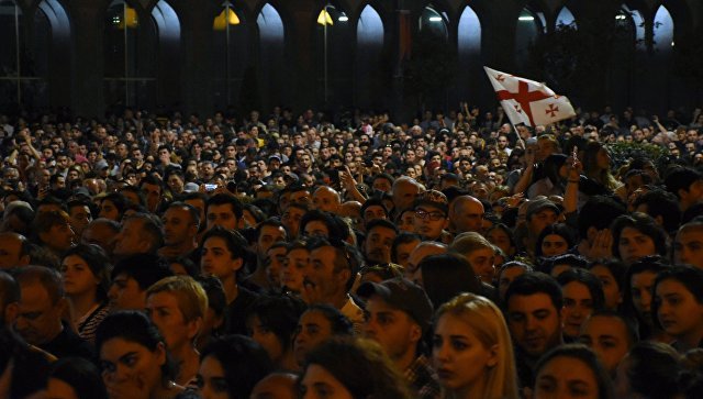 Грузия: организаторы анонсируют возобновление митинга в субботу