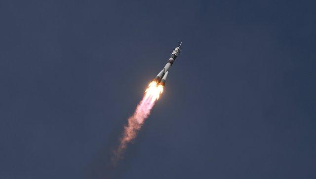 Запуск ТПК  Союз МС-09» с участниками длительной экспедиции МКС-56/57