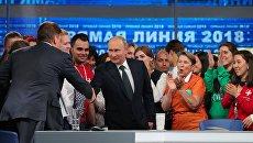 Президент РФ Владимир Путин после ежегодной специальной программы Прямая линия с Владимиром Путиным. 7 июня 2018
