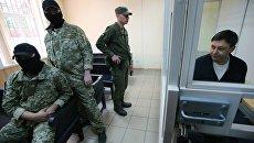 Руководитель портала РИА Новости Украина Кирилл Вышинский во время рассмотрения апелляции на арест в Херсонском суде. Архивное фото