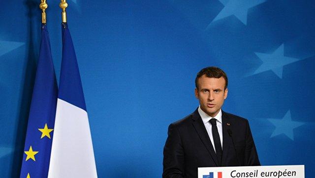 Президент Франции Эммануэль Макрон на саммите государств и правительств стран-участниц Европейского союза в Брюсселе