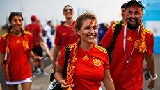 Болельщики сборной Испании перед матчем группового этапа чемпионата мира по футболу между сборными Португалии и Испании