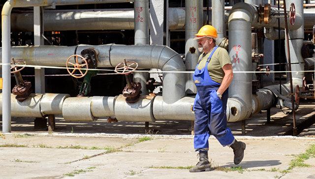 Шебелинский газоперерабатывающий завод украинской компании Нафтогаз. Архивное фото
