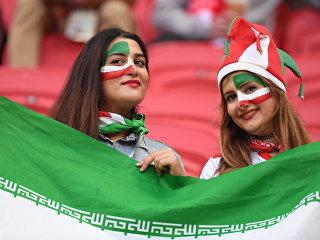 Болельщицы сборной Ирана перед матчем ЧМ-2018 по футболу между сборными Ирана и Испании