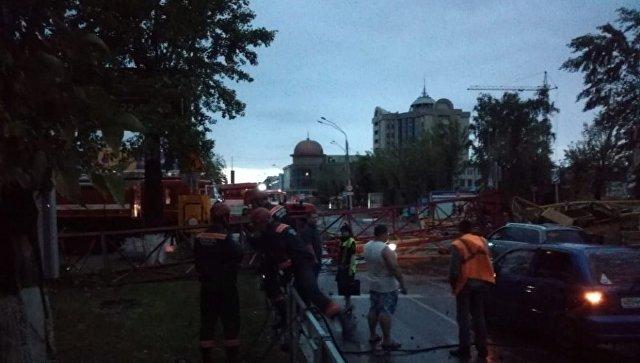 Последствия урагана в Барнауле. 23 июня 2018