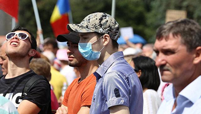 В Кишиневе оппозиция проводит акцию протеста