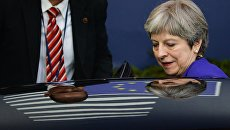 Премьер-министр Великобритании Тереза Мэй на саммите ЕС в Брюсселе. Архивное фото