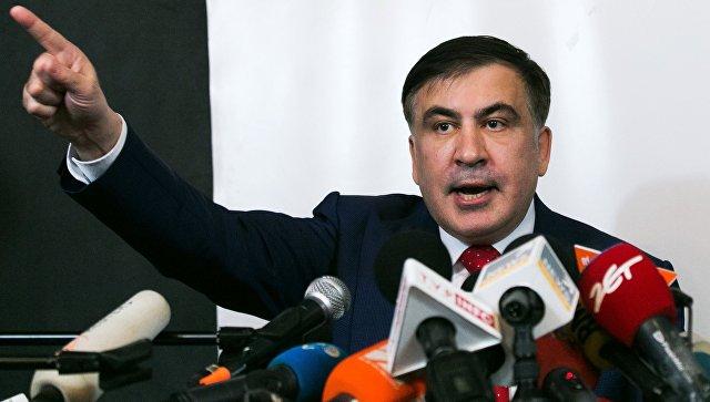 Михаил Саакашвили во время пресс-конференции в Варшаве. 13 февраля 2018