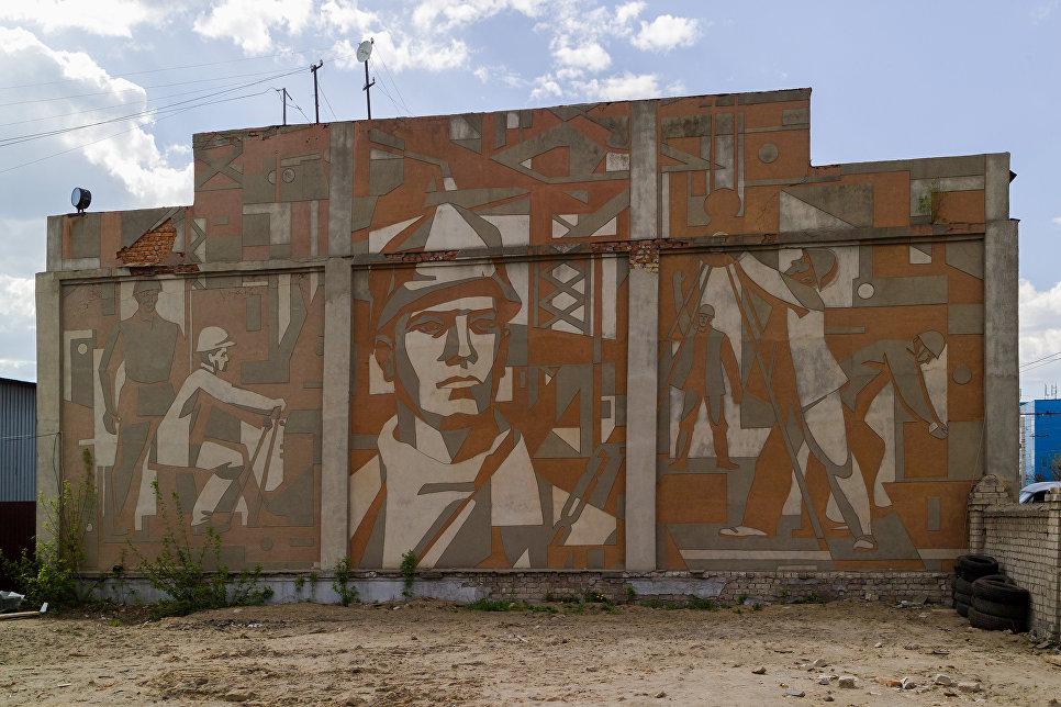 Барельеф на здании города Иваново