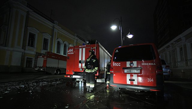 В Люберцах локализовали пожар в бюро ритуальных услуг