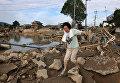 Последствия ливневых дождей в Курасиках, префектура Окаяма, Япония. 9 июля 2018 года