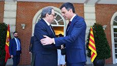 Встреча премьера Испании Педро Санчеса и главы женералитета Каталонии Кима Торры в Мадриде. Архивное фото