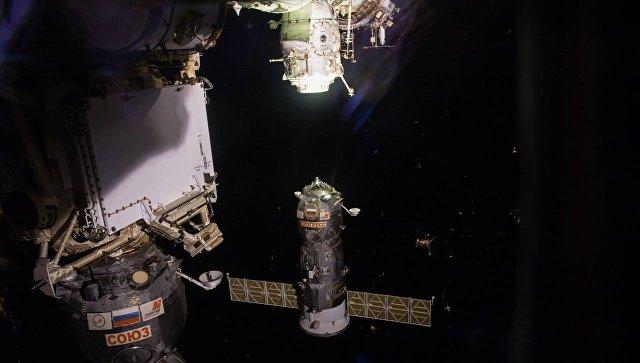Российский космический грузовой корабль причалил к МКС