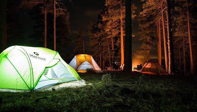 Палаточный лагерь. Архивное фото