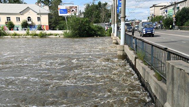 Мост на улице Комсомольская в Чите через реку Читинка. 10 июля 2018
