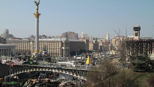 Баррикады на площади Независимости в Киеве. Архивное фото