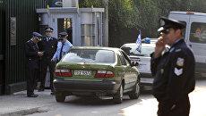 Полиция у здания посольства РФ в Афинах