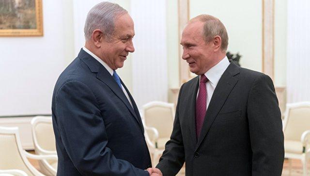 Владимир Путин и премьер-министр государства Израиль Биньямин Нетаньяху во время встречи. 11 июля 2018