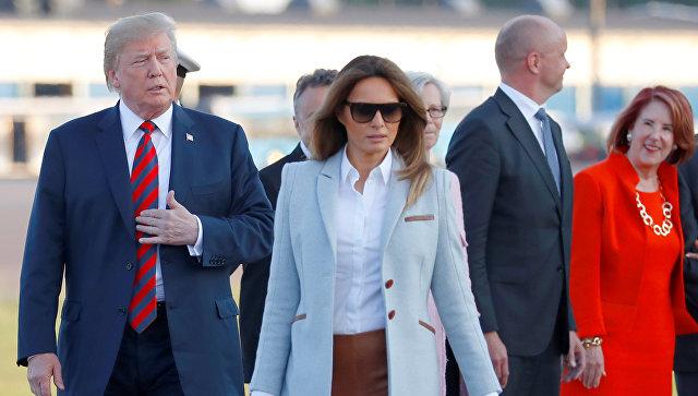 Первая леди США Меланья Трамп прибыла с мужем, президентом Дональдом Трампом в Хельсинки