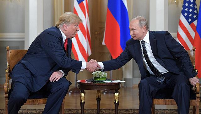 Встреча президента РФ Владимира Путина и президента США Дональда Трампа в Хельсинки. Архивное фото