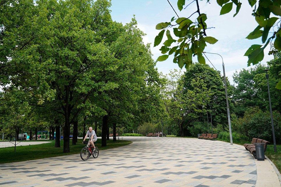 Обновленная пешеходная зона в парке 50-летия Октября