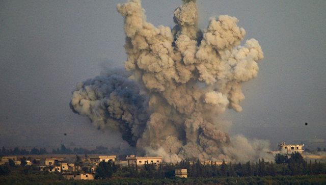 Взрыв в районе границы Сирии и Израиля. Архивное фото