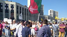 Митинг против пенсионной реформы на проспекте Академика Сахарова. 29 июля 2018