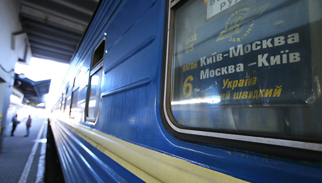 Вагон поезда №005 Украина по маршруту Москва-Киев. Архивное фото