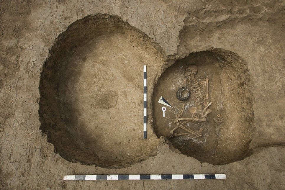 На строительстве обхода Аксая Ростовской области обнаружены захоронения IV тысячелетия до н.э.