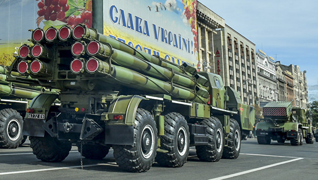 Военная техника вооруженных сил Украины на военном параде в Киеве. Архивное фото