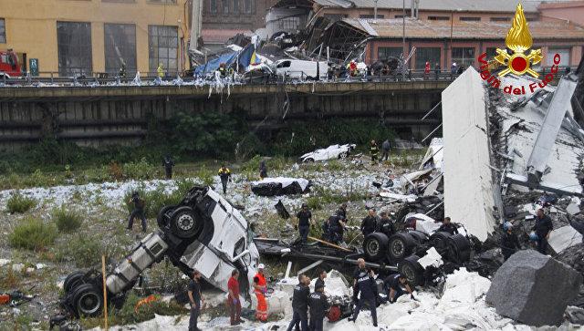 В Генуе число жертв при обрушении моста достигло 22 человек