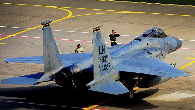 Истребитель F-15C Eagle ВВС США на авиабазе в Литве. Архивное фото
