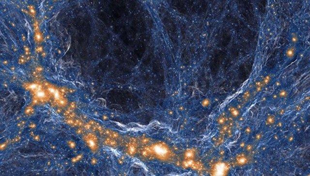 Так художник представил себе паутину Вселенной