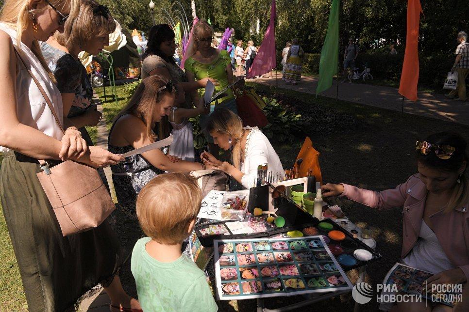 Фестиваль индийской культуры, посвященный Дню независимости Индии, в парке Сокольники в Москве