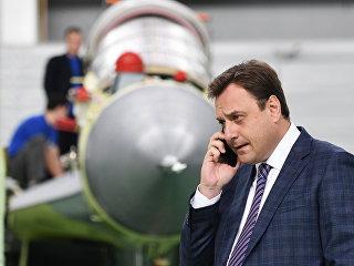 Генеральный директор АО Российская самолетостроительная Корпорация МиГ Илья Тарасенко в цехе сборки многоцелевых истребителей. Архивное фото