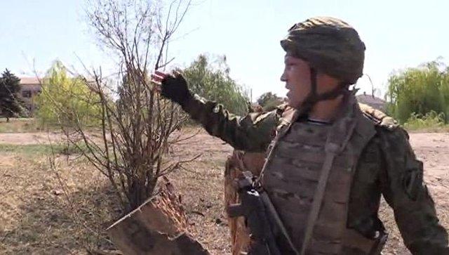 Место обстрела съемочной группы ВГТРК в Донбассе