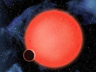 Водный мир GJ 1214b, обращающийся вокруг красного карлика в созвездии Змееносца