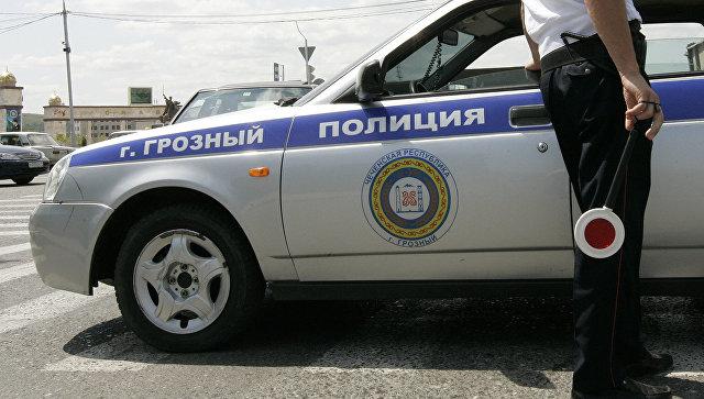 Сотрудник ГИБДД в Грозном. Архивное фото