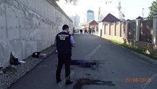 На месте нападения на сотрудников полиции Чеченской Республики. 20 августа 2018
