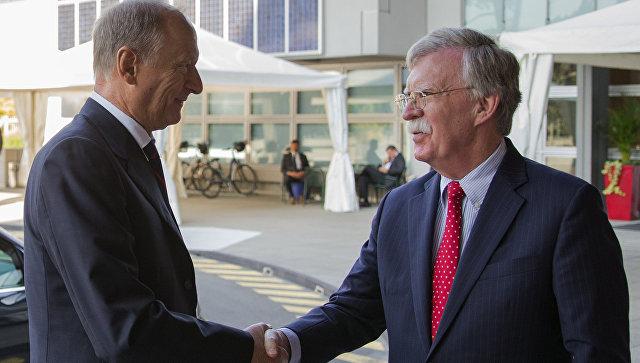 Секретарь Совета безопасности Николай Патрушев и советник президента США по нацбезопасности Джон Болтон. Архивное фото