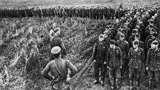 Немецкие солдаты и офицеры, взятые в плен в битве под Курском. Август 1943