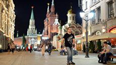 Открытие пешеходной зоны на Никольской улице в Москве