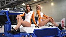 Модели на стенде компании Авторос на Московском международном автомобильном салоне 2018