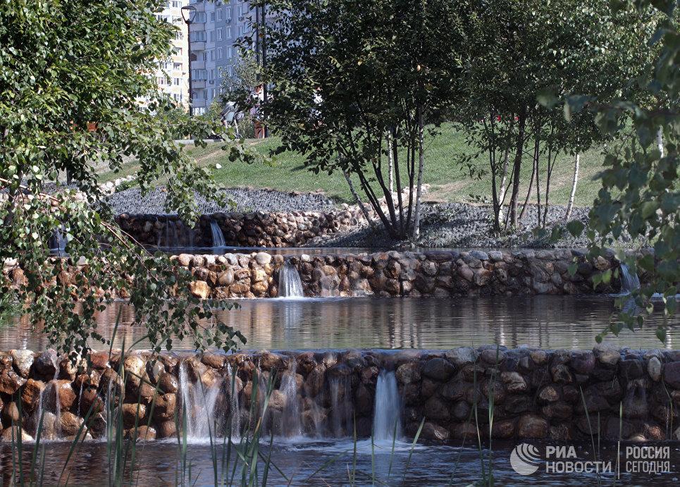 Дамба в парке Южное Бутово