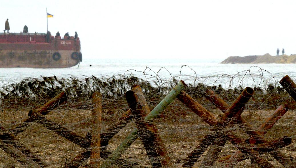 Сотрудники пограничной службы Украины в Азовском море