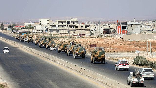 Турецкая военная техника в провинции Идлиб, Сирия. Архивное фото