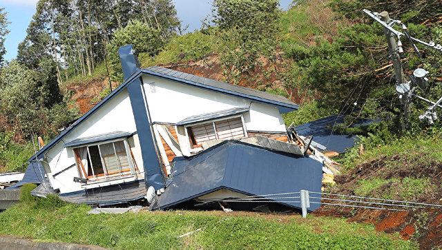 Последствия землетрясения на острове Хоккайдо в Японии