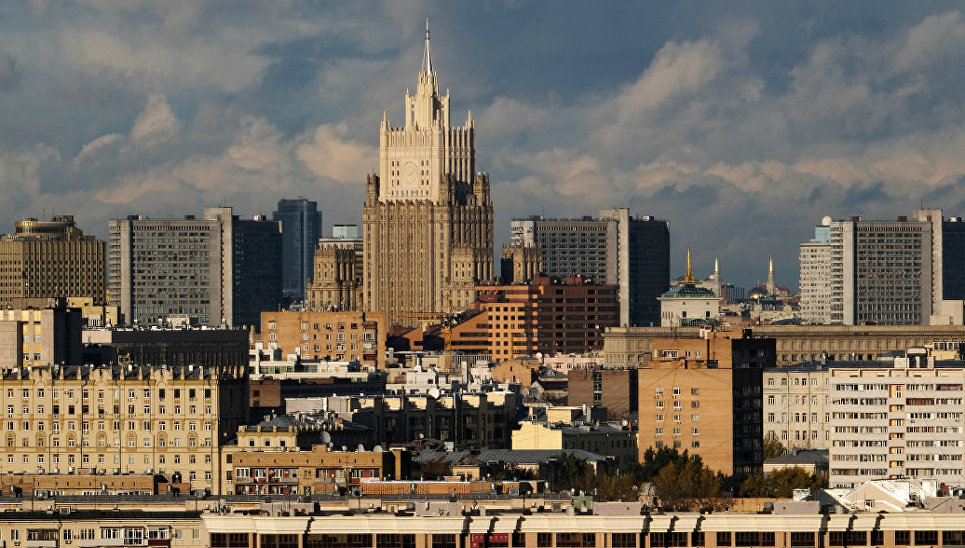 Вид на Москву со смотровой площадки МГУ им. М.В. Ломоносова