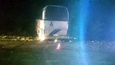 Последствия ДТП с участием пассажирского автобуса Анапа – Ярославль в Ленинградском районе Краснодарского края. 17 сентября 2018