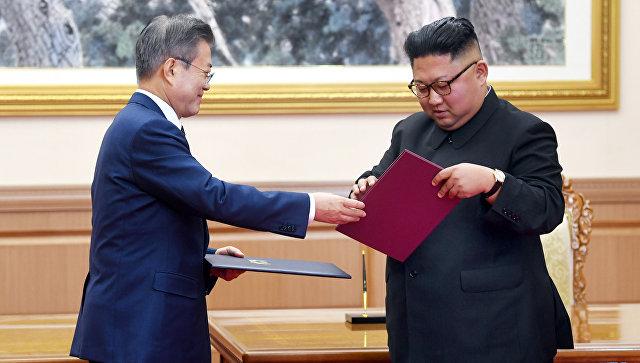 Президент Южной Кореи посадил в Пхеньяне дерево на память о своем визите